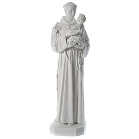Saint Anthony reconstituted Carrara marble statue 100 cm s1
