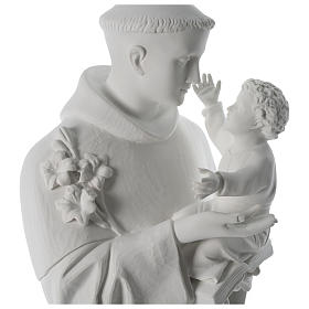 Saint Anthony reconstituted Carrara marble statue 100 cm s2