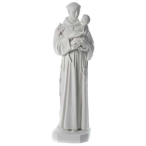 Saint Anthony reconstituted Carrara marble statue 100 cm 1