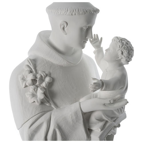 Saint Anthony reconstituted Carrara marble statue 100 cm 2