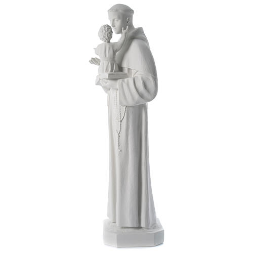 Saint Anthony reconstituted Carrara marble statue 100 cm 3