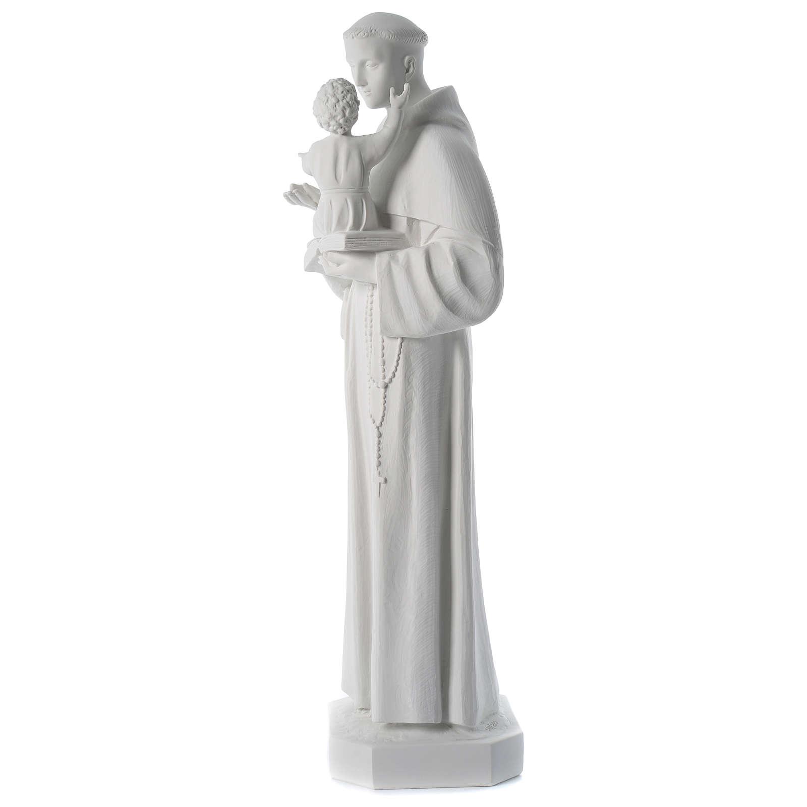 Estatua de San Antonio de mármol sintético 100 cm 4