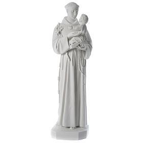 Statua Sant'Antonio marmo sintetico 100 cm s1