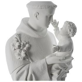 Statua Sant'Antonio marmo sintetico 100 cm s2