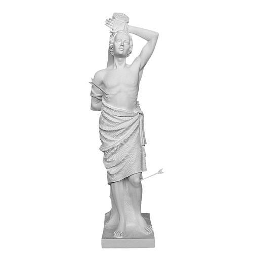 Estatua San Sebastián 125 cm. fibra de vidrio blanca
