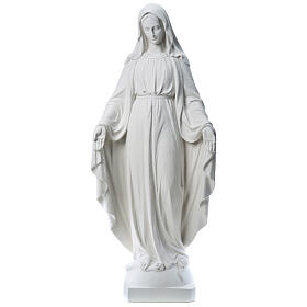 Our Lady of Miracles, 130cm in reconstituted Carrara marble
