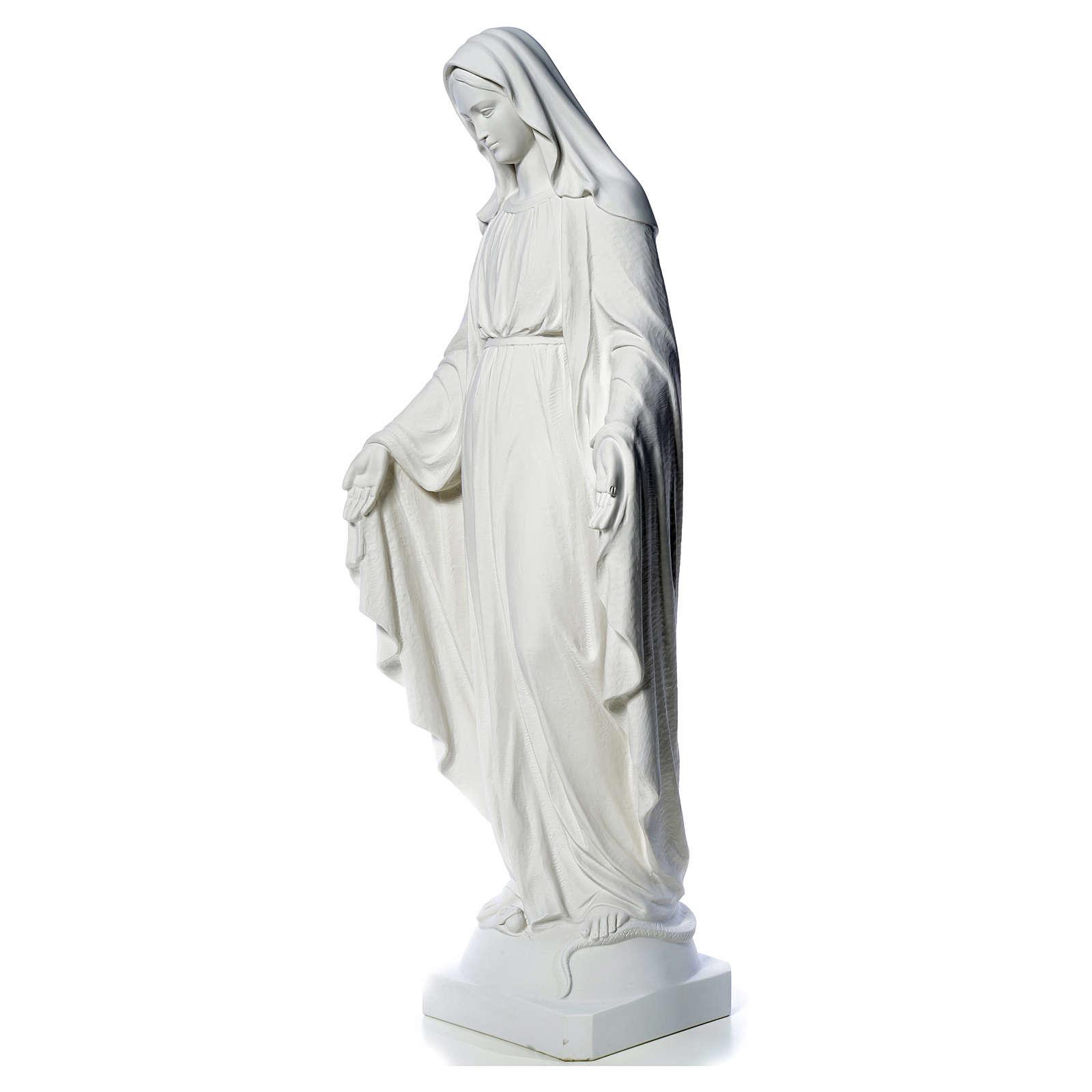 Virgen de la Medalla Milagrosa 130cm polvo de mármol Carrara 4