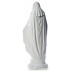 Virgen de la Medalla Milagrosa 130cm polvo de mármol Carrara s11