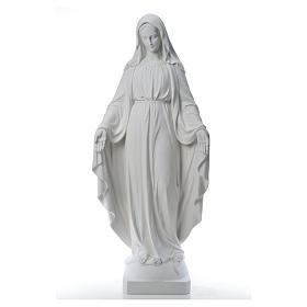 Virgen de la Medalla Milagrosa 130cm polvo de mármol Carrara s13