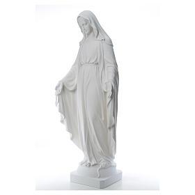 Virgen de la Medalla Milagrosa 130cm polvo de mármol Carrara s14
