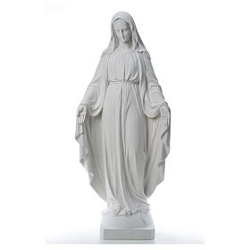 Virgen de la Medalla Milagrosa 130cm polvo de mármol Carrara s1