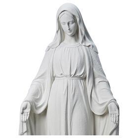 Virgen de la Medalla Milagrosa 130cm polvo de mármol Carrara s2