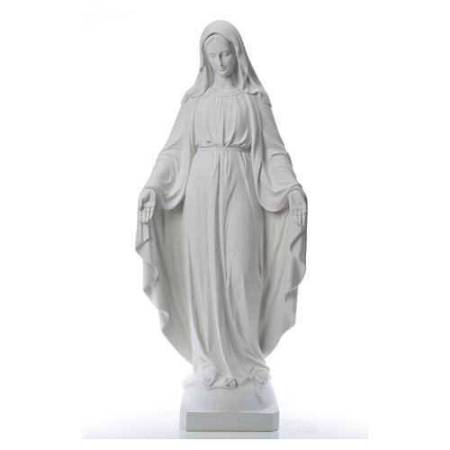 Virgen de la Medalla Milagrosa 130cm polvo de mármol Carrara 13