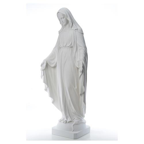 Virgen de la Medalla Milagrosa 130cm polvo de mármol Carrara 14