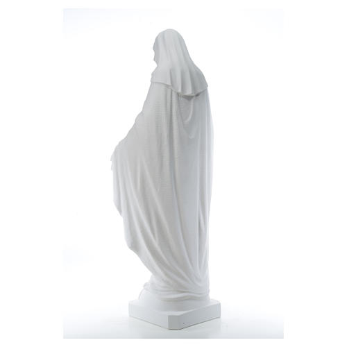 Virgen de la Medalla Milagrosa 130cm polvo de mármol Carrara 15