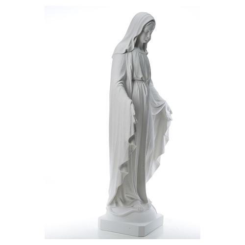 Virgen de la Medalla Milagrosa 130cm polvo de mármol Carrara 16