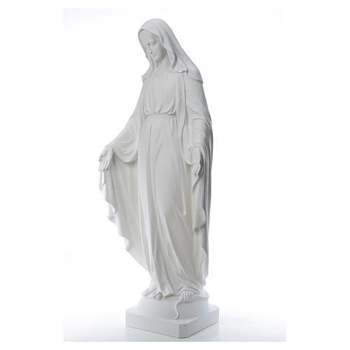 Virgen de la Medalla Milagrosa 130cm polvo de mármol Carrara 2