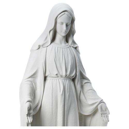 Virgen de la Medalla Milagrosa 130cm polvo de mármol Carrara 6