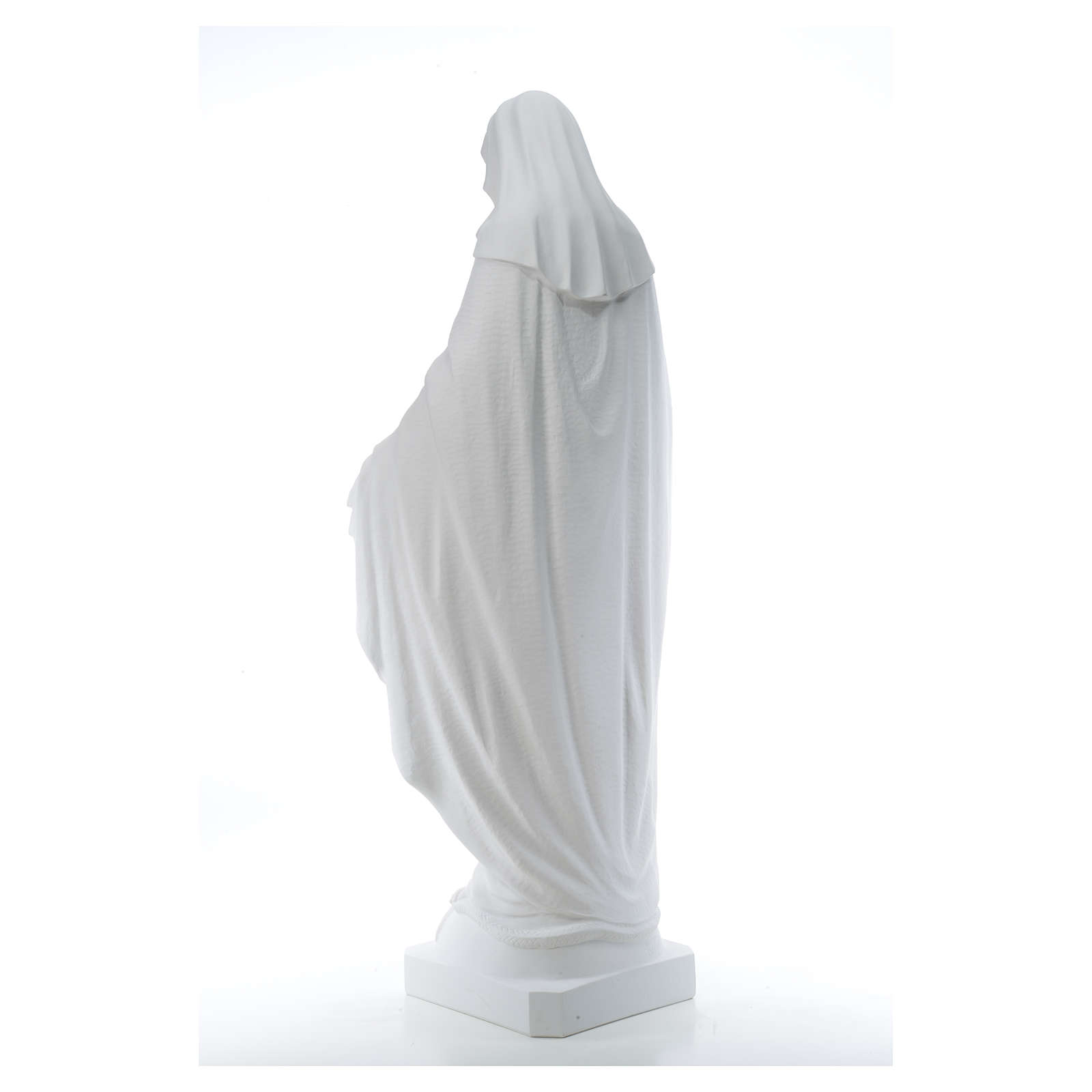 Madonna Miracolosa marmo sintetico 130 cm 4