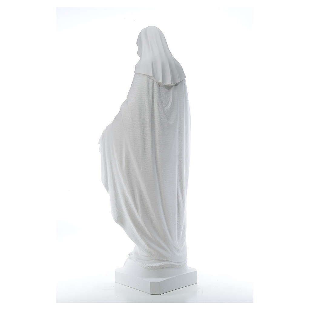 Our Lady of Miracles, 130cm in composite Carrara marble 4