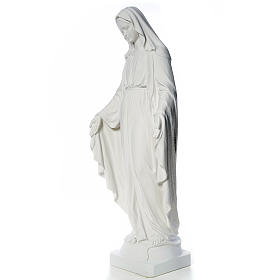 Our Lady of Miracles, 130cm in composite Carrara marble s6