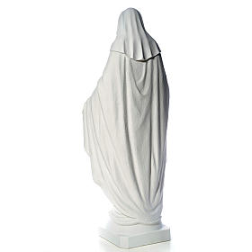 Our Lady of Miracles, 130cm in composite Carrara marble s7