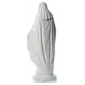 Our Lady of Miracles, 130cm in composite Carrara marble s11