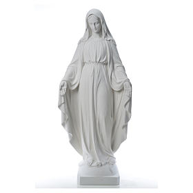 Our Lady of Miracles, 130cm in composite Carrara marble s13