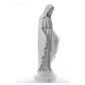 Our Lady of Miracles, 130cm in composite Carrara marble s16
