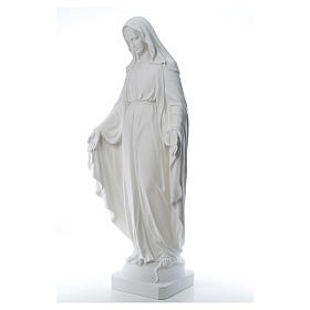 Our Lady of Miracles, 130cm in composite Carrara marble s2