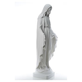 Our Lady of Miracles, 130cm in composite Carrara marble s4