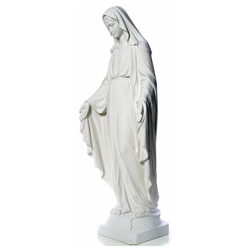 Our Lady of Miracles, 130cm in composite Carrara marble 10