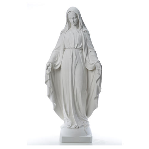 Our Lady of Miracles, 130cm in composite Carrara marble 13