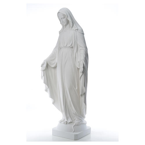 Our Lady of Miracles, 130cm in composite Carrara marble 14