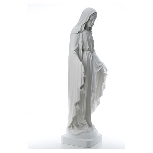 Our Lady of Miracles, 130cm in composite Carrara marble 16