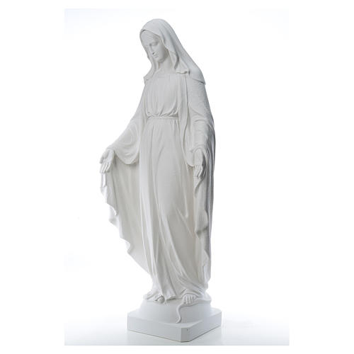 Our Lady of Miracles, 130cm in composite Carrara marble 2