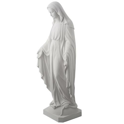 Estatua de Virgen de la Milagrosa 100cm  mármol sintetico 4