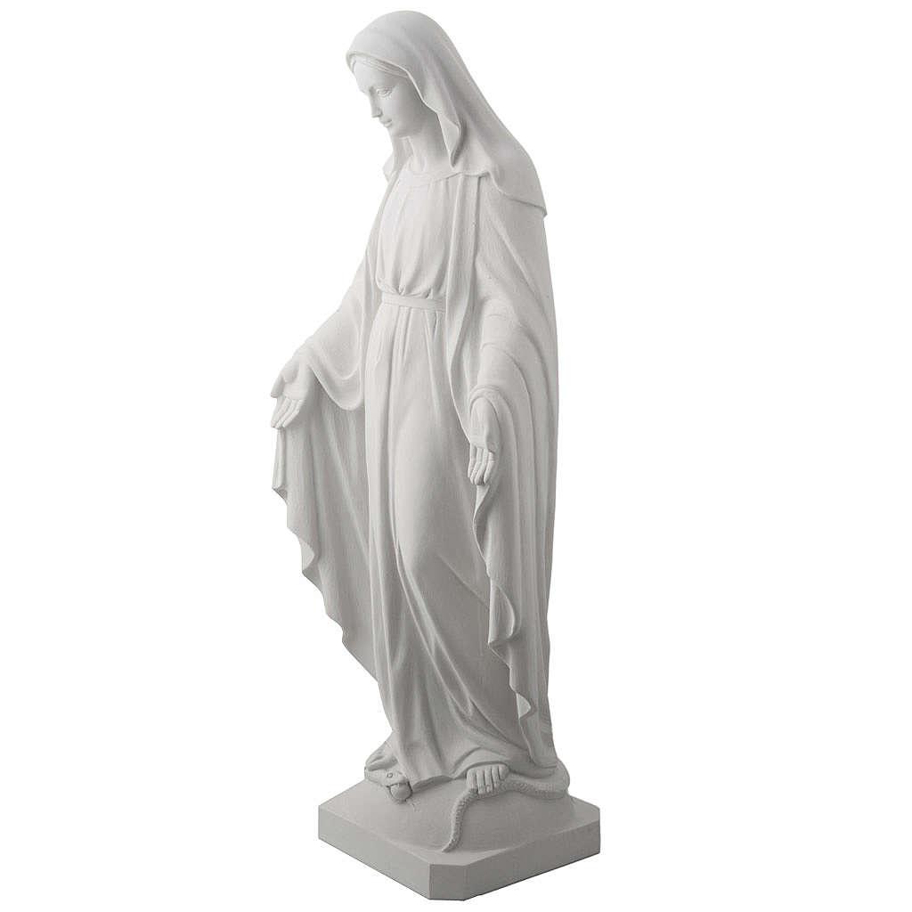 Statua Madonna Miracolosa marmo sintetico 100 cm 4