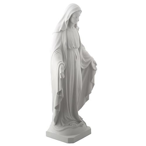 Statua Madonna Miracolosa marmo sintetico 100 cm 5