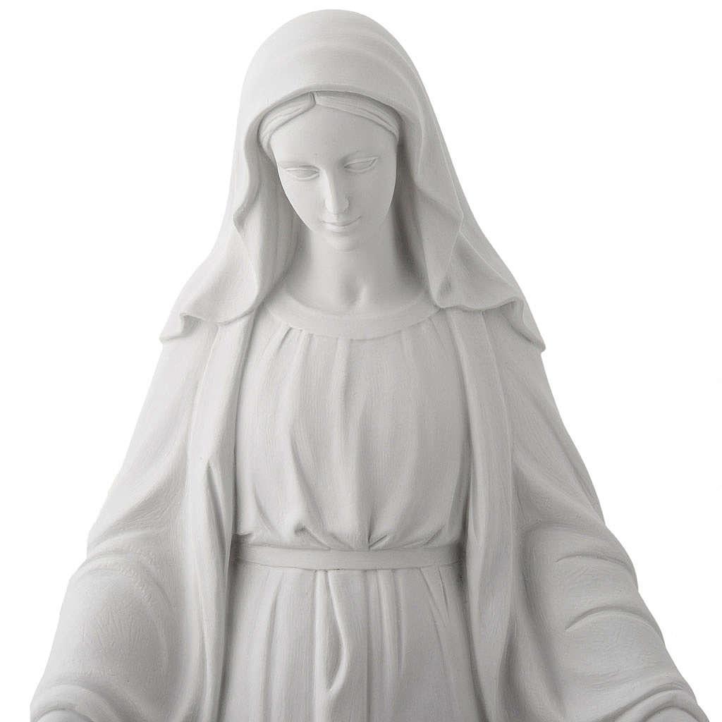 Imagem Nossa Senhora Milagrosa mármore sintético 100 cm 4