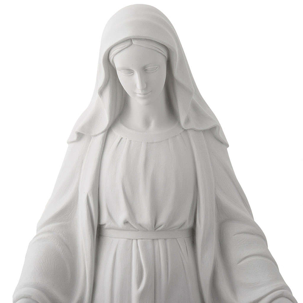 Our Lady of Miracles, 100 cm statue in composite marble 4