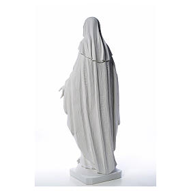 Our Lady of Miracles in reconstituted Carrara marble, 100 cm s19