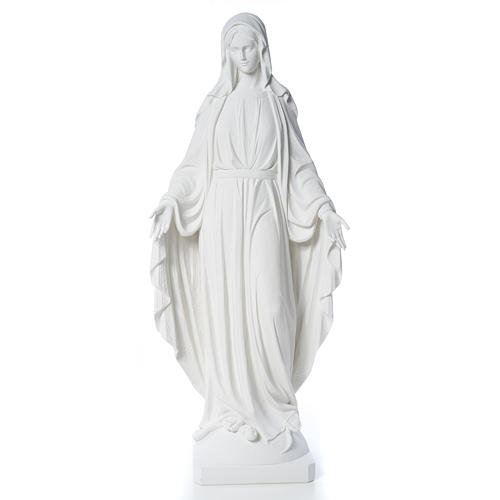 Our Lady of Miracles in reconstituted Carrara marble, 100 cm 5