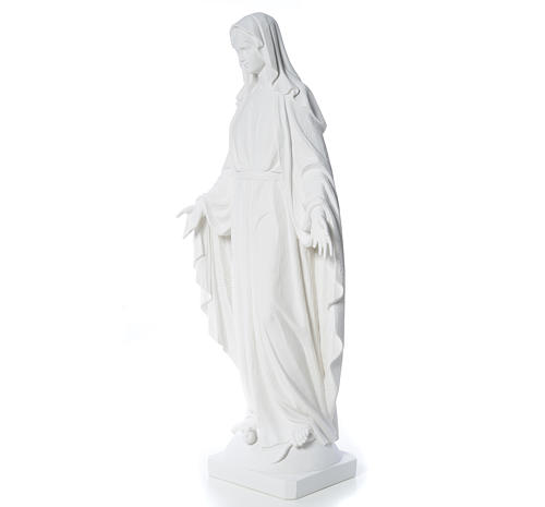 Our Lady of Miracles in reconstituted Carrara marble, 100 cm 6