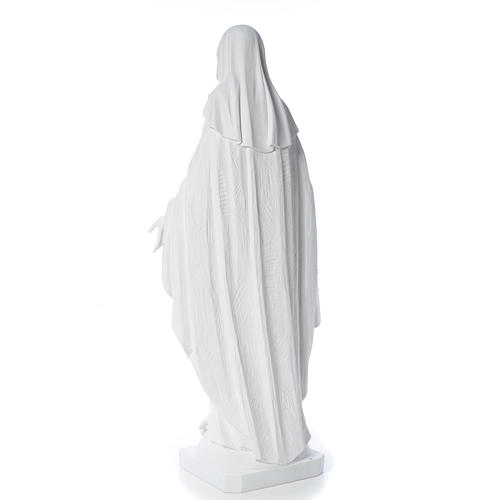 Our Lady of Miracles in reconstituted Carrara marble, 100 cm 7