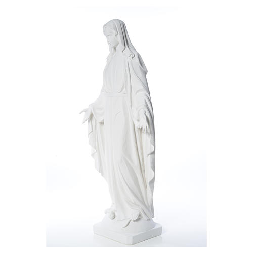 Our Lady of Miracles in reconstituted Carrara marble, 100 cm 10