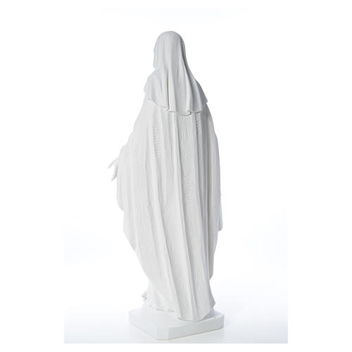 Our Lady of Miracles in reconstituted Carrara marble, 100 cm 11