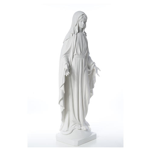 Our Lady of Miracles in reconstituted Carrara marble, 100 cm 12