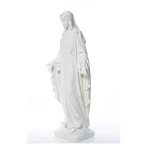 Our Lady of Miracles in reconstituted Carrara marble, 100 cm 14