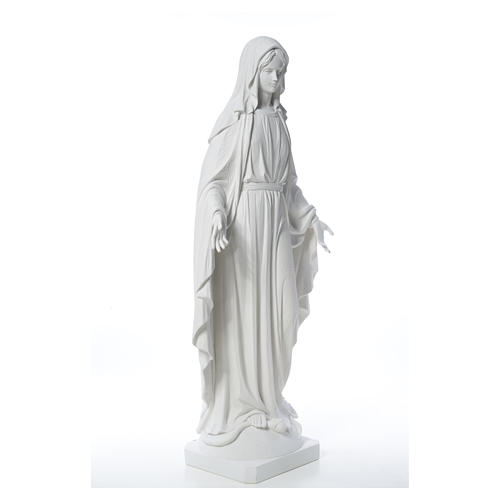 Our Lady of Miracles in reconstituted Carrara marble, 100 cm 16